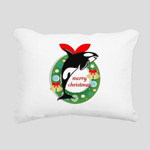 merry christmas Killer W Rectangular Canvas Pillow