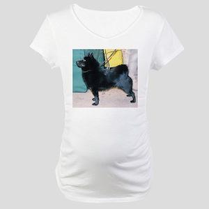 schipperke full Maternity T-Shirt