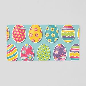 Easter Eggs Aluminum License Plate