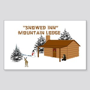 """Snowed Inn"" Rectangle Sticker"