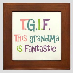 Grandma is Fantastic Framed Tile