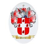Scortal Oval Ornament