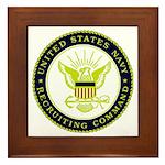 US Navy Recruiting Command Framed Tile