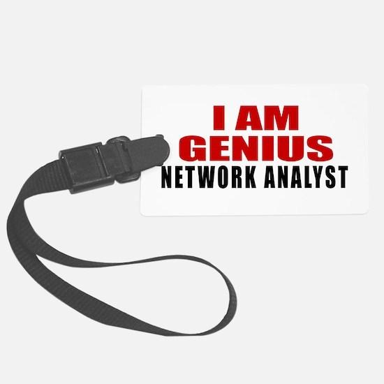 I Am Genius Network Analyst Luggage Tag