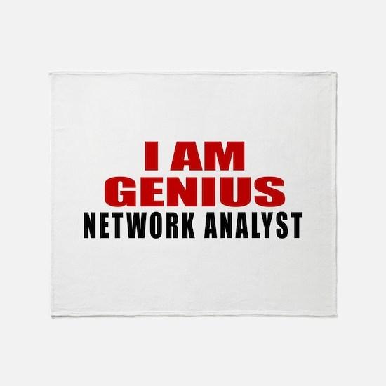 I Am Genius Network Analyst Throw Blanket