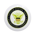 US Navy Recruiting Command Ornament (Round)