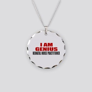 I Am Genius Neonatal Nurse P Necklace Circle Charm