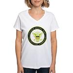 US Navy Recruiting Command Women's V-Neck T-Shirt