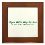 Capitalism Framed Tile