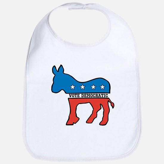 VOTE DEMOCRATIC DONKEY DEMOCRAT Cotton Baby Bib
