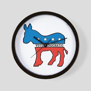 VOTE DEMOCRATIC DONKEY DEMOCRAT Wall Clock