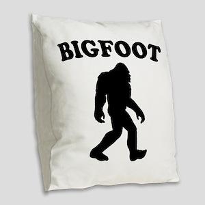 Bigfoot Burlap Throw Pillow