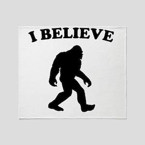 Bigfoot I Believe Throw Blanket