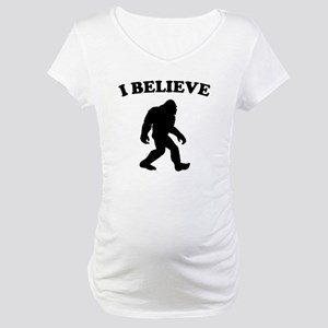Bigfoot I Believe Maternity T-Shirt
