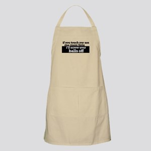 Don't touch me BBQ Apron