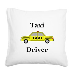 Taxi Driver Square Canvas Pillow