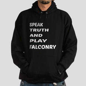 Speak Truth And Play Falconry Hoodie (dark)