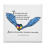 Autism is Treatable & Reversible Tile/Coaster
