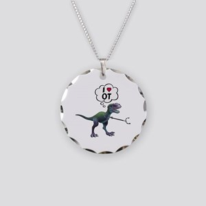 T-Rex Loves Occupational The Necklace Circle Charm