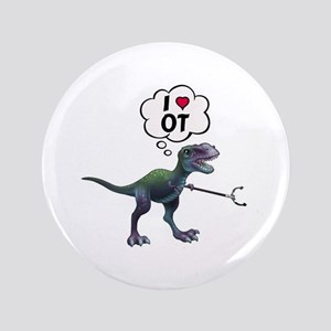 T-Rex Loves Occupational Therapy Button