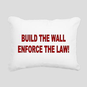 Build The Wall Rectangular Canvas Pillow