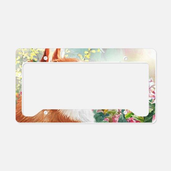 Shiba Inu Painting License Plate Holder