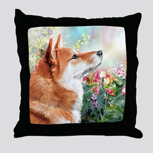 Shiba Inu Painting Throw Pillow