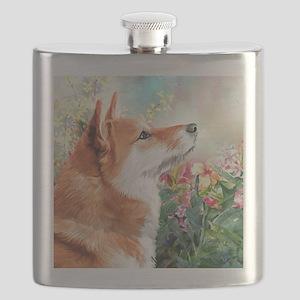 Shiba Inu Painting Flask