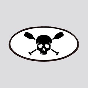 Crossed paddles skull Patch