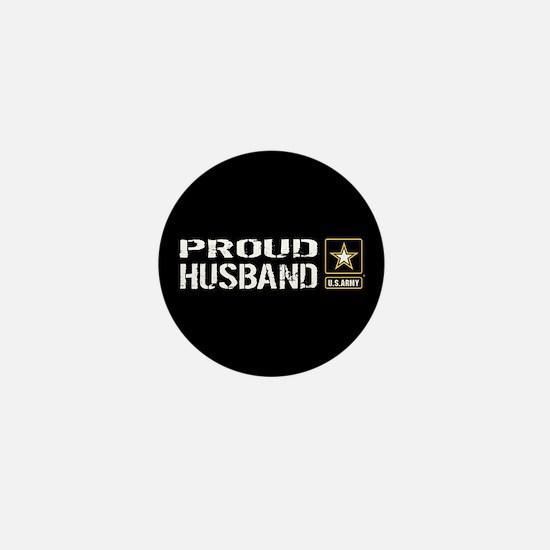 U.S. Army: Proud Husband (Black) Mini Button