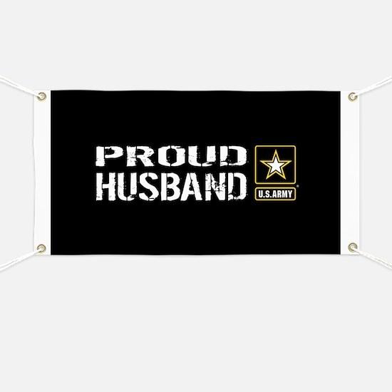 U.S. Army: Proud Husband (Black) Banner