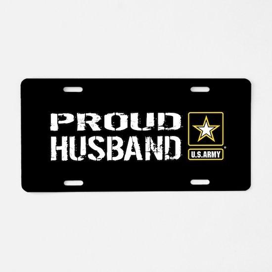 U.S. Army: Proud Husband (B Aluminum License Plate