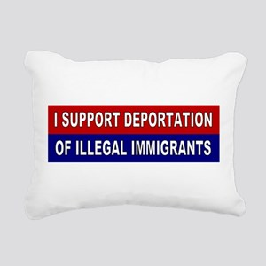 Support Deportation Rectangular Canvas Pillow