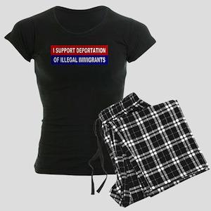 Support Deportation Women's Dark Pajamas