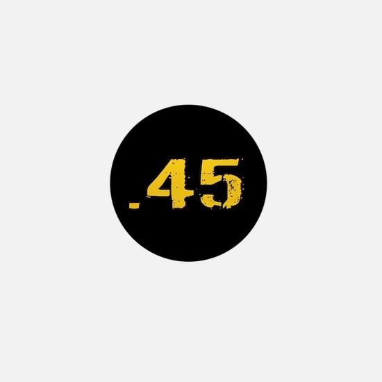 .45 Ammo: Black & Gold Mini Button