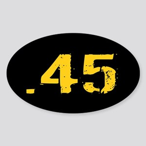 .45 Ammo: Black & Gold Sticker (Oval)