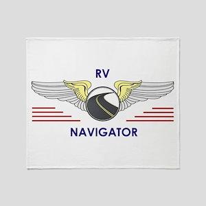 RV Navigator Throw Blanket
