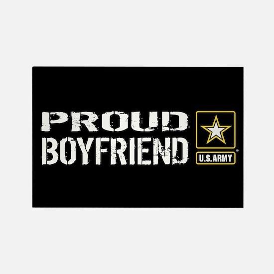 U.S. Army: Proud Boyfriend (Black Rectangle Magnet