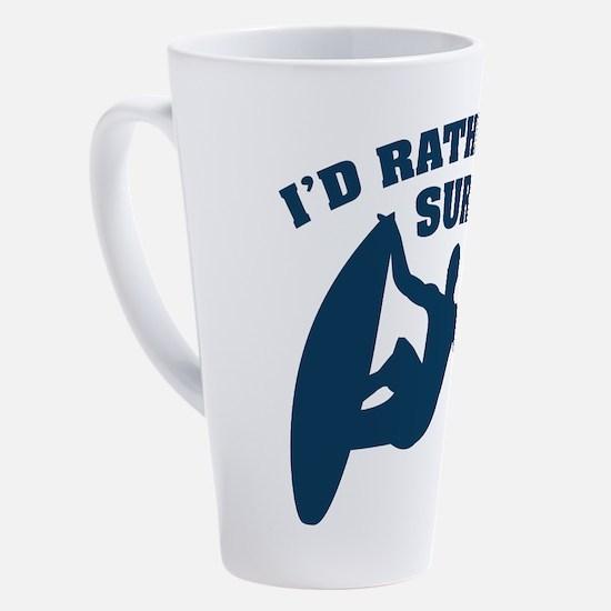 Cute Surfboard 17 oz Latte Mug