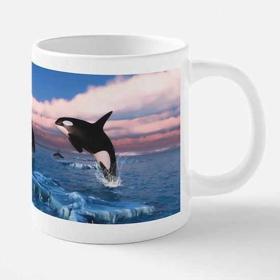 Killer Whales In The Arctic Ocean Mugs