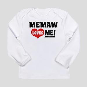 MeMaw Loves Me Long Sleeve Infant T-Shirt