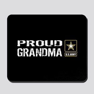 U.S. Army: Proud Grandma (Black) Mousepad