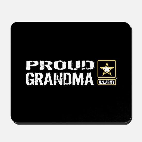 U.S. Army: Proud Grandma (Black) Mousepad