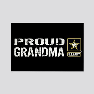 U.S. Army: Proud Grandma (Black) Rectangle Magnet