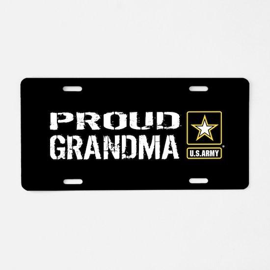 U.S. Army: Proud Grandma (B Aluminum License Plate