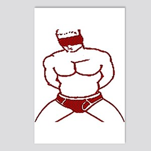 BLINDFOLDED SUBMISSION-RED Postcards (Package of 8