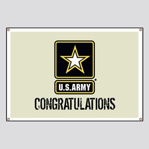 U.S. Army: Congratulations (Sand) Banner