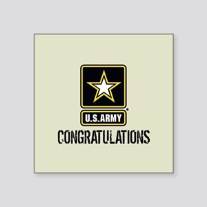 "U.S. Army: Congratulations Square Sticker 3"" x 3"""