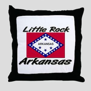 Little Rock Arkansas Throw Pillow