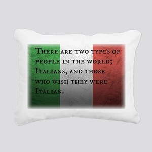 Two Types of People Rectangular Canvas Pillow